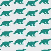 Stock Illustration of Vector seamless pattern with bear on white background. wallpaper