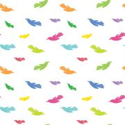 Stock Illustration of Bird vector art background design for fabric and decor. Seamless pattern
