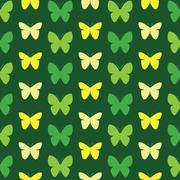 Stock Illustration of Butterfly vector art background design for fabric and decor. Seamless pattern