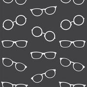 Glasses vector art background design for fabric and decor. Seamless pattern - stock illustration