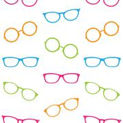 Stock Illustration of Glasses vector art background design for fabric and decor. Seamless pattern
