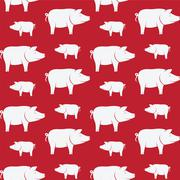 Stock Illustration of Pig vector art background design for fabric and decor. Seamless pattern