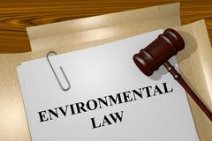 Environmental Law concept - stock illustration