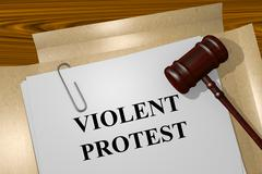 Violent Protest concept - stock illustration