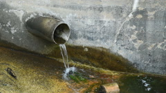 Point Source Pollution Pipe Stock Footage