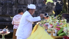 Indonesian people celebrate Balinese New Year. Ubud, Bali, Indonesia Stock Footage