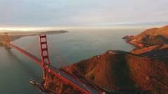 4K Aerial drone shot San Francisco traffic golden gate bridge Arkistovideo