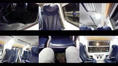 Train travel multicam 4k Stock Footage