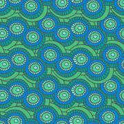 Circle vector seamless pattern. - stock illustration