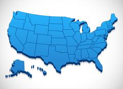 United States of America Map Stock Illustration