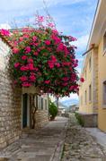 The narrow street in Herceg Novi, Montenegro - stock photo