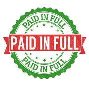Paid in full stamp - stock illustration
