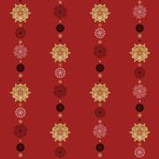 Stock Illustration of Seamless winter pattern with snowflakes
