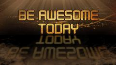 Stock Illustration of Gold quote - Be awesome today