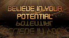 Gold quote - Believe in your potential - stock illustration