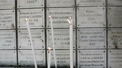 Notre-Dame de la Garde tombs in Marseille, France Stock Footage