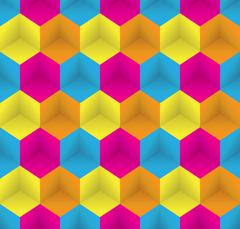 Stock Illustration of Seamless Pattern. Abstract Psychedelic Art Background. Vector Il