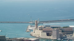 Aerial view of Marseille, France Stock Footage