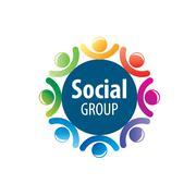 Social Group logo - stock illustration