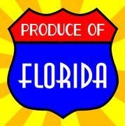 Produce Of Florida Shield Stock Illustration