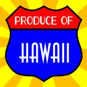 Stock Illustration of Produce Of Hawaii Shield