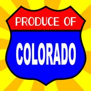 Produce Of Colorado Shield - stock illustration