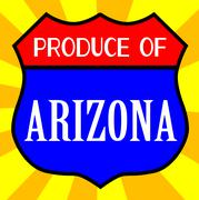 Produce Of Arizona Shield - stock illustration