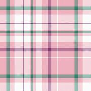 pink, white, green and magenta plaid - stock illustration