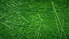 Abstract moving pieces in green Stock Footage