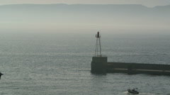 Entrance to Marseille port - stock footage