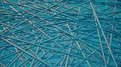 Abstract moving pieces in blue color Stock Footage
