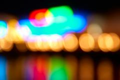 Blur abstract holiday lights - stock photo