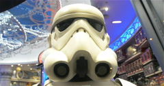 Body And Helmet Of A Soldier Stormtrooper Stock Footage