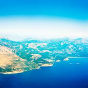 Aerial View of Adriatic Coastline in Montenegro. - stock photo