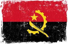 Angola Vector Flag on White Stock Illustration