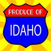 Produce Of Idaho Shield Stock Illustration