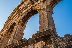 Stock Photo of Architectural Details of Pula Coliseum, Croatia