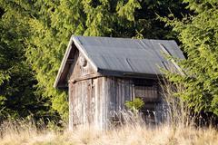 Wooden Hunters Hut Stock Photos