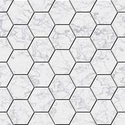 Cobble hexagon marble stone background - illustrated seamless texture Stock Photos