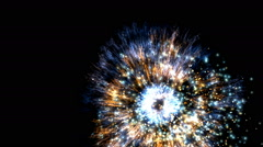 Salute in the night sky Stock Footage