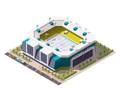 Vector isometric ice hockey arena Stock Illustration