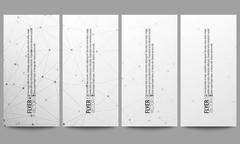 Set of modern vector flyers. Molecular structure design, scientific background Stock Illustration