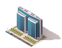 Stock Illustration of Vector isometric building