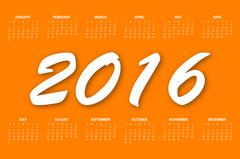 Calendar for the year 2016 - stock illustration