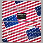 Set of modern vector banners. Presidents day background, abstract poster with Stock Illustration