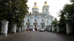 St. Nicholas naval Cathedral, St. Petersburg, Russia. - stock footage