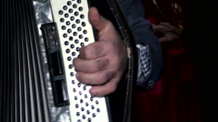 The musician plays accordion. Stock Footage