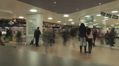 Timelapse of crowd shopping in mall on cash point Stock Footage