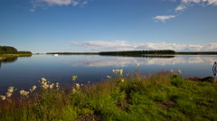 Sweden Timelapse of a Swedish lake landscape on a beautiful summer day Stock Footage