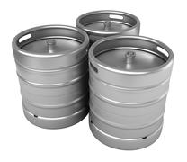 Beer kegs Stock Illustration